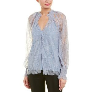 Alice McCall • St Germain Lace Blouse in Pebble